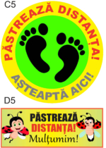 sticker, distantare