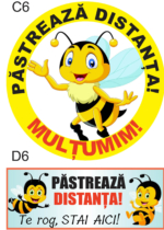 sticker distantare